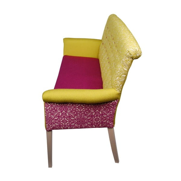 Sofa Romantic Provence Blue Yellow/Fuchsia