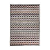 Šedý vysoce odolný koberec Floorita Optical Lento, 80 x 150 cm