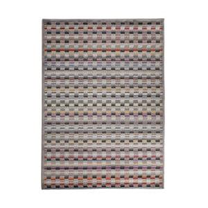 Šedý vysoce odolný koberec Floorita Optical Lento, 140 x 195 cm