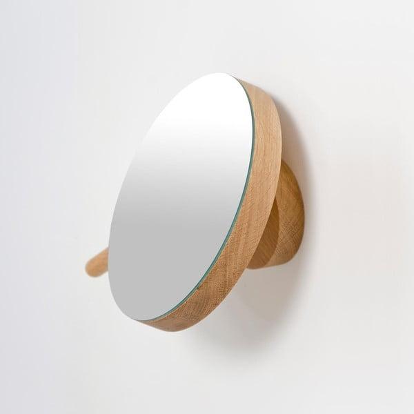 Nástěnné kosmetické zvětšovací zrcadlo zdubového dřeva Wireworks Slimline