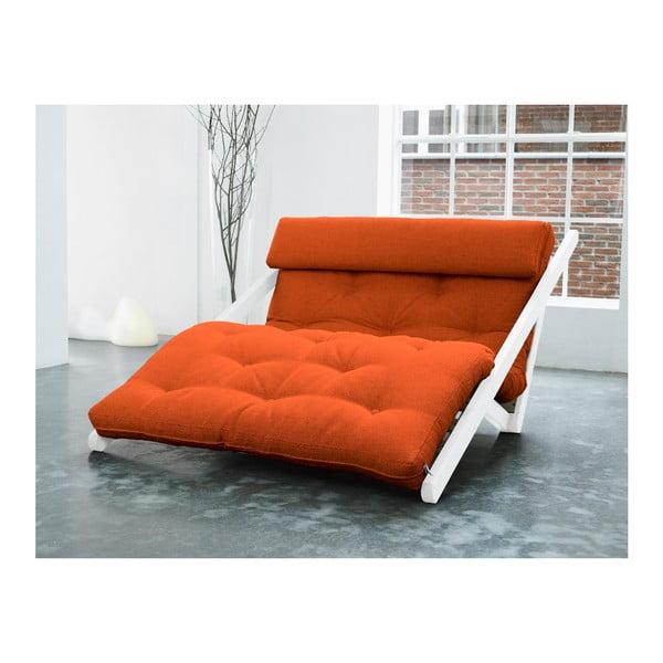 Lenoška Karup Figo, White/Orange, 120 cm