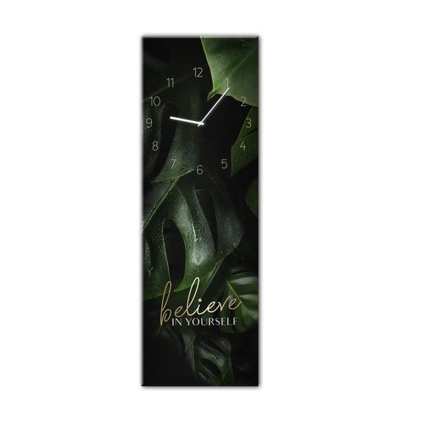 Glassclock Believe falióra, 20 x 60 cm - Styler