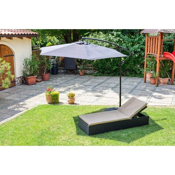 Umbrelă de soare Le Bonom Happy Sun, ø 300 cm, negru