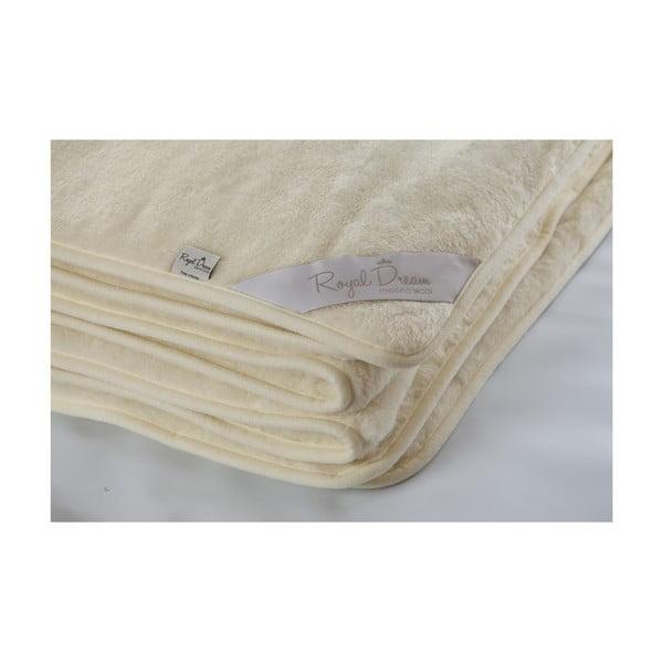 Vlněná deka Royal Dream Cashmere, 200x200 cm