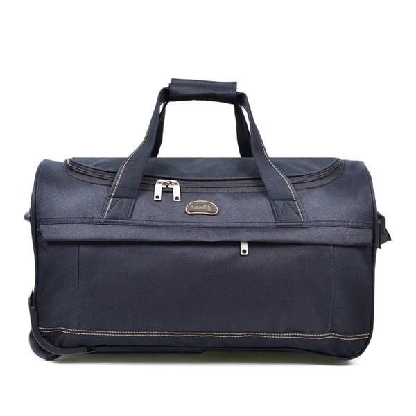Modrá cestovní taška na kolečkách Hero,43l