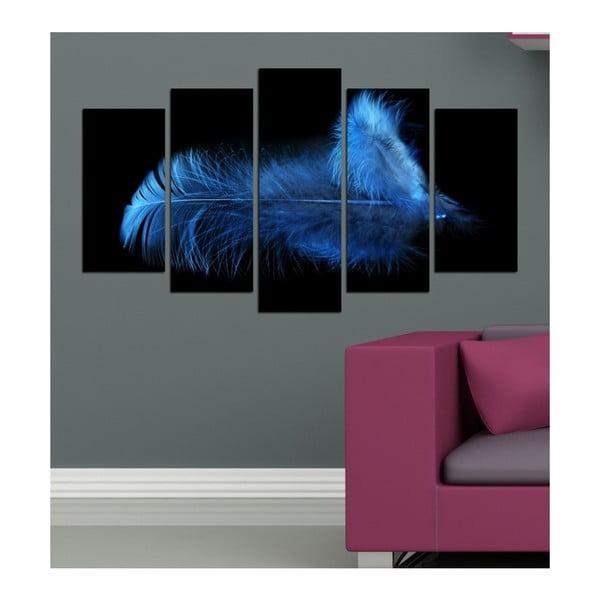Tablou din mai multe piese 3D Art Deep Azul, 102 x 60 cm