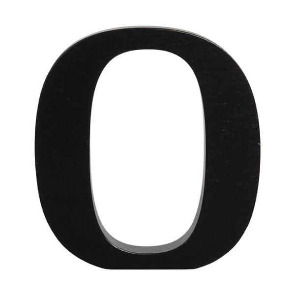 Černé dřevěné písmeno Typoland O