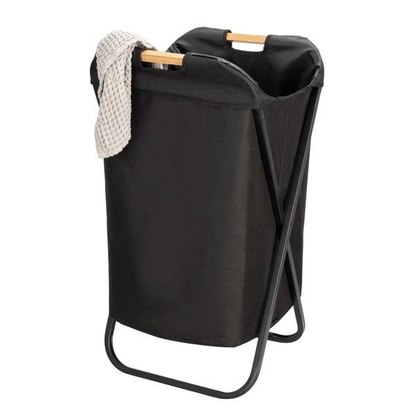 Czarny składany kosz na pranie Wenko Bin