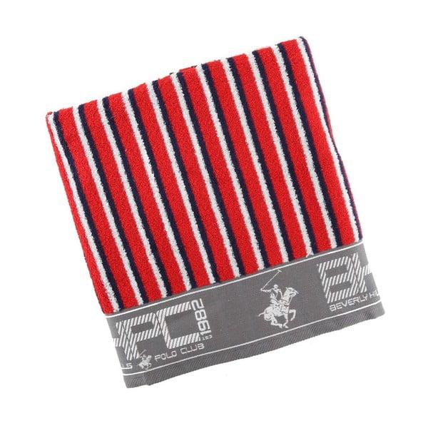 Červeno-modrá osuška BHCP, 80x150 cm