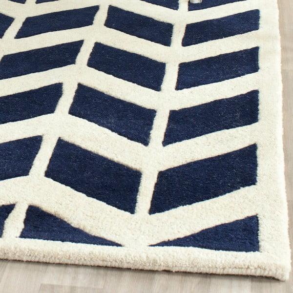 Vlněný koberec Safavieh Brenna Navy, 68x213 cm
