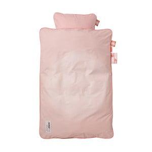 Lenjerie de pat pentru copii Done By Deer Candyfloss, 70 x 80 cm, roz
