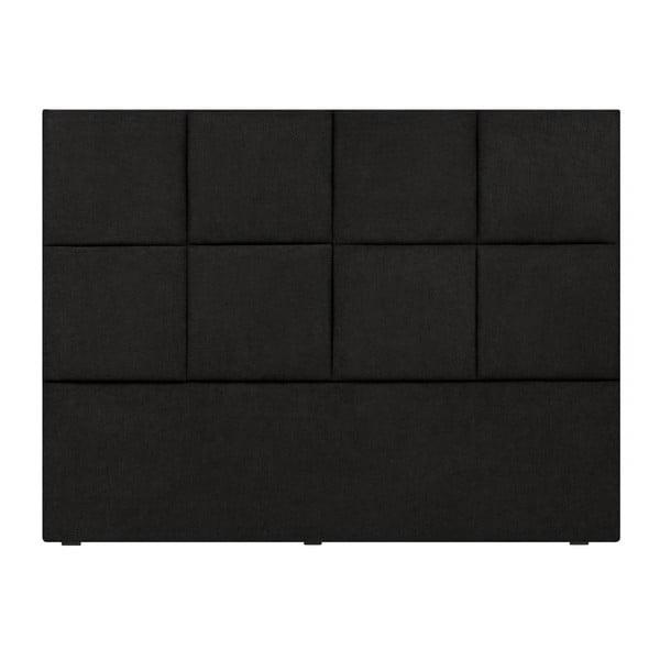 Černé čelo postele Mazzini Sofas Barletta, 160 x 120 cm