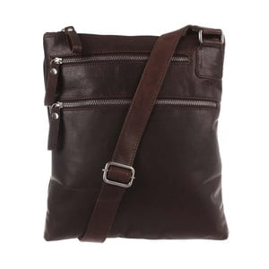 Pánská kožená taška Vintage Dark Brown Leather Cross-Body