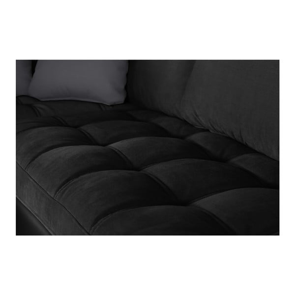 Černá pohovka Modernist Crinoline, levý roh