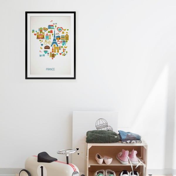 Zarámovaný obraz France, 50x70 cm