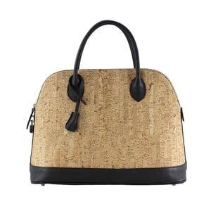 Béžová kožená kabelka Chicca Borse Sorra