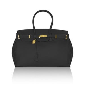 Kožená kabelka Emdo, černá