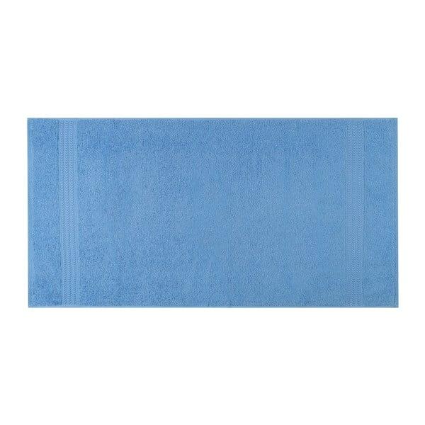 Modrý ručník z čisté bavlny Sky, 50 x 90 cm