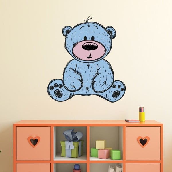 Set autocolante pentru perete Ambiance Teddy Bear, 60 x 55 cm