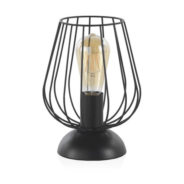 Fekete fém asztali lámpa, magasság 26 cm - Geese