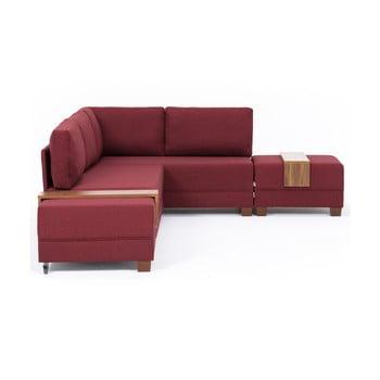 Canapea extensibilă cu 2 blaturi Balcab Home Diana bordeaux
