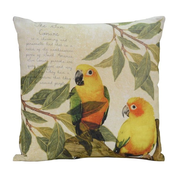 Polštář Yellow Birds, 45x45 cm
