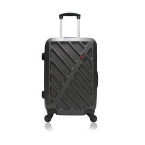 Tmavě šedý kufr na kolečkách Hero Lock, 91 l