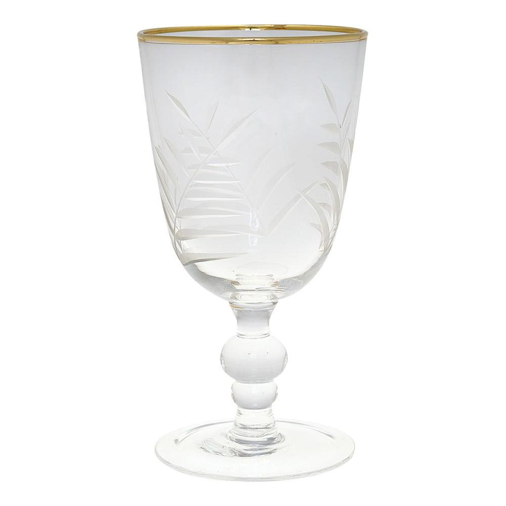 Broušená sklenice na víno Green Gate