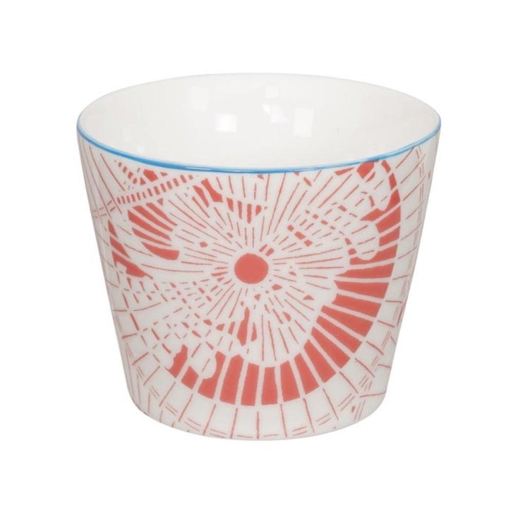 Červeno-bílý porcelánový hrnek Tokyo Design Studio Shiki, 180 ml