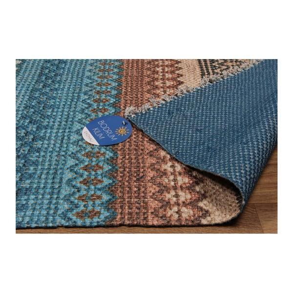 Covor Eco Rugs Kirin, 80 x 150 cm, albastru