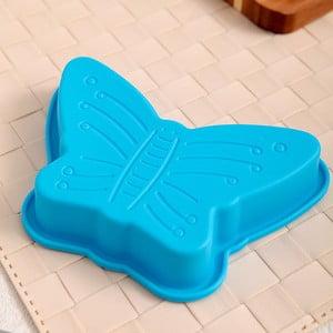 Silikonová formička Motýl, 2 ks, tyrkysová