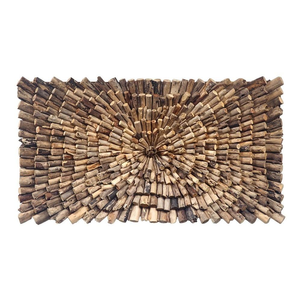 Nástěnná dekorace z teakového dřeva House Nordic Woody