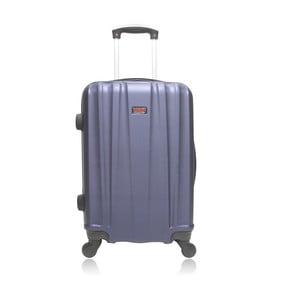 Fialový cestovní kufr na kolečkách Hero Journey, 91 l