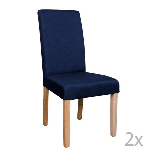 Sada 2 modrých židlí House Nordic Mora