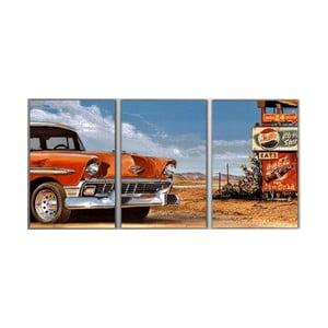 3dílný obraz Retro Car, 45x90 cm