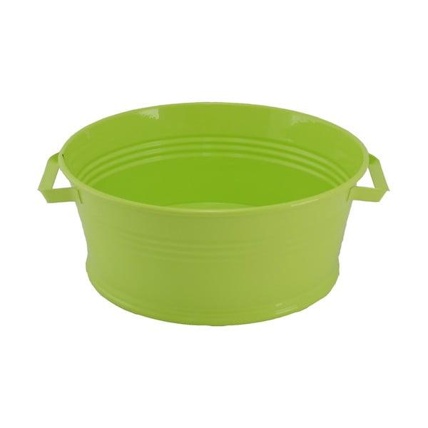Kovový kbelík s uchy Kovotvar, 10x27 cm, zelený