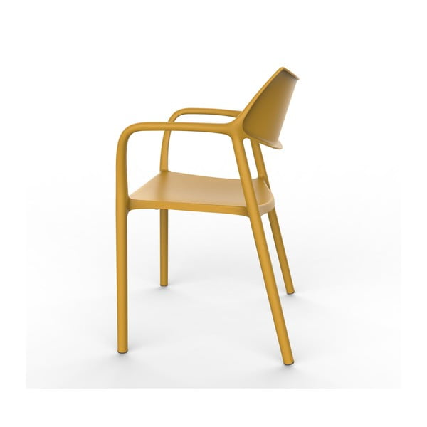 Sada 2 žlutých zahradních židlí s područkami Resol Splash