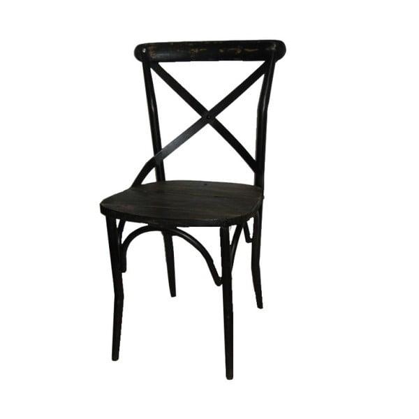 Kovová židle Antic Line Chaise Noir
