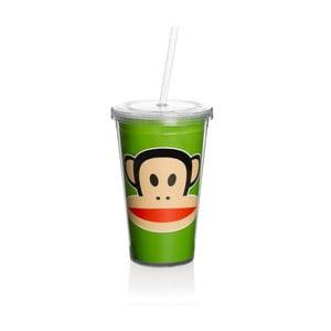 Hrnek Paul Frank s brčkem, zelený