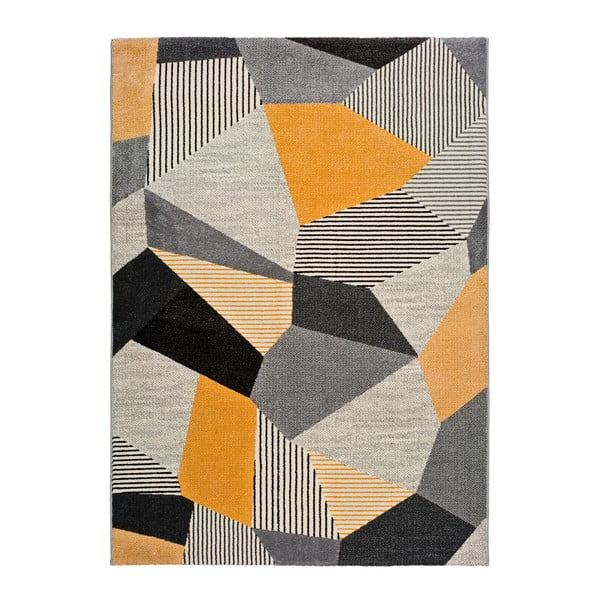 Covor Universal Gladys Sarro, 80 x 150 cm, portocaliu-gri