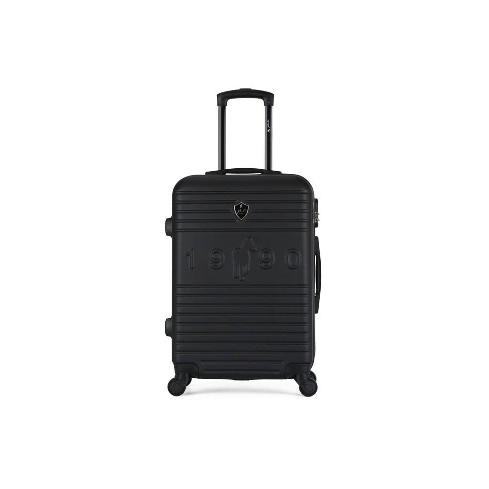 Černý cestovní kufr na kolečkách GENTLEMAN FARMER Valise Grand Cadenas Integre, 45 x 65 cm