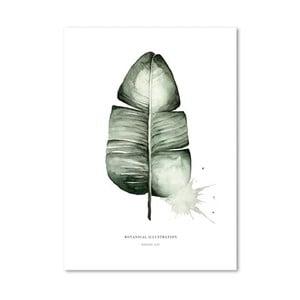Plakát Leo La Douce Banana Leaf, 21x29,7cm