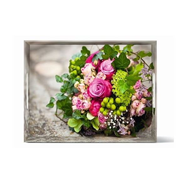 Podnos Classic Flower Bouquet, 40x31 cm
