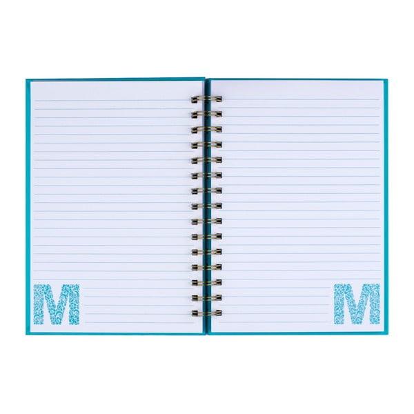 Zápisník Tri-Coastal Design Letter M, 120 stránek