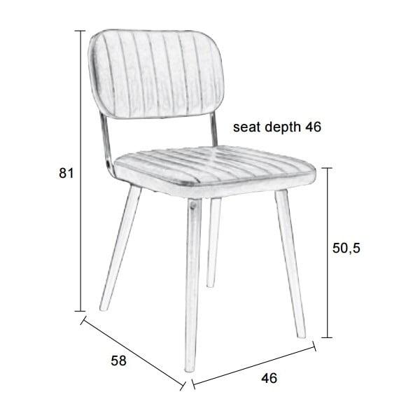 Černá židle White Label Jake Worn