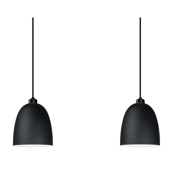 Černé dvojité závěsné svítidlo Sotto Luce Awa