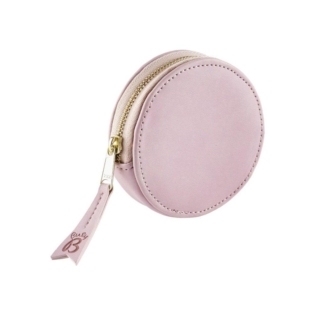 Růžová peněženka na mince a klíče Busy B