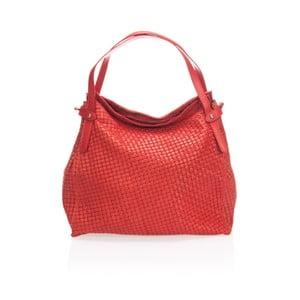 Červená kožená kabelka Markese Hela