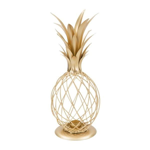 Ananas Glam aranyszínű gyertyatartó vasból, teamécseshez - Mauro Ferretti