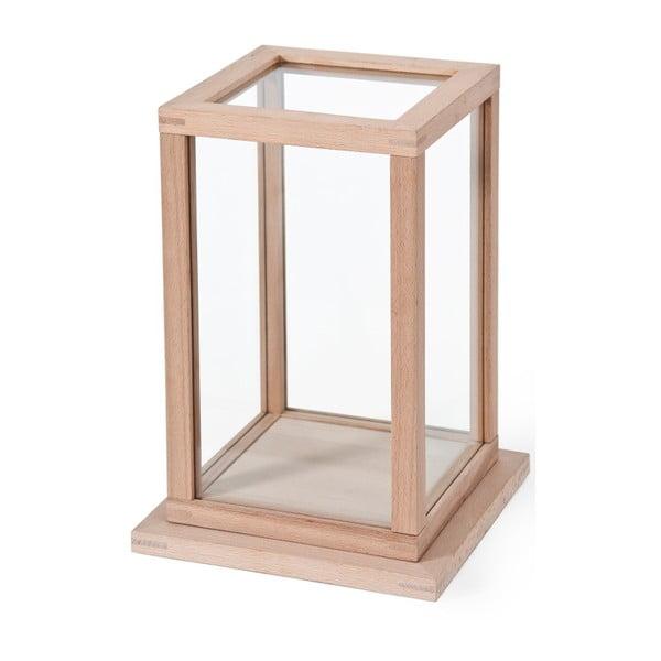 Vitrínka z dubového dřeva Wireworks Treasure Trove, výška 35 cm